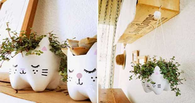 Diy d co transformer des bouteilles plastique en pot de fleur - Diy decoration maison ...