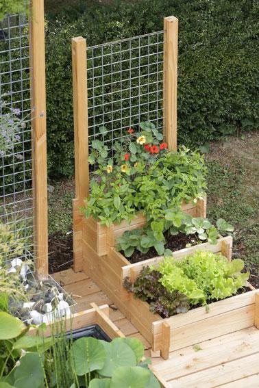 une astuce facile pour faire un potager dans le jardin. Black Bedroom Furniture Sets. Home Design Ideas