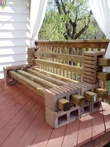 Facile de réaliser un banc de jardin pas cher et original ! Avec des