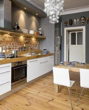 D co une cuisine rustique for Amenagement cuisine rustique