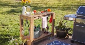 Bar de jardin et desserte faire en palette bois deco cool for Fabriquer une petite table de jardin