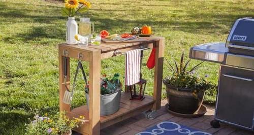 Fabriquer une desserte de jardin en bois - Fabriquer ses meubles en bois ...