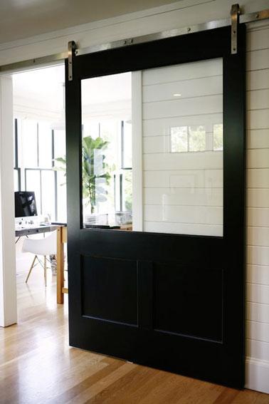 fabriquer une porte coulissante en bois avec vitre. Black Bedroom Furniture Sets. Home Design Ideas