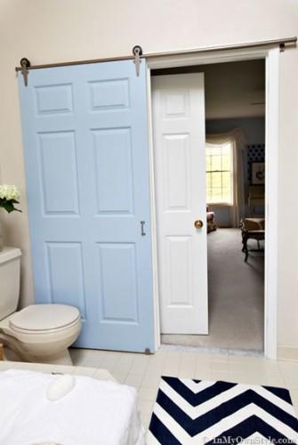 Fabriquer une porte coulissante pour la salle de bain - Meuble salle de bain porte coulissante ...