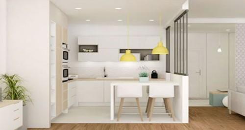des id es d co pour mini cuisine et kitchenette. Black Bedroom Furniture Sets. Home Design Ideas