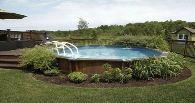 Am nagement d co pour une piscine hors sol for Piscine de jardin gonflable carrefour
