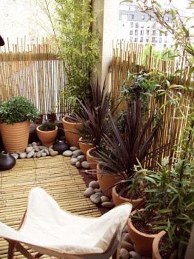 am nager un coin de jardin zen sur le balcon. Black Bedroom Furniture Sets. Home Design Ideas