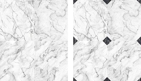 Du papier peint marbre blanc grisé avec ou sans cabochons pour sublimer les murs de vos pièces dans toute la maison - Koziel