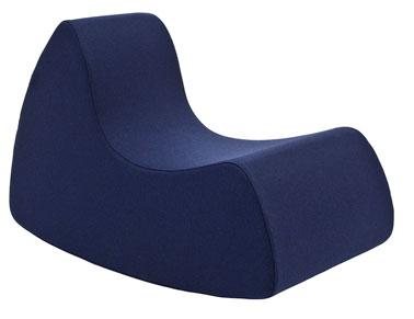 Un Rocking Chair bleu qui séduira les adultes et les enfants ! Confortable, ludique et rigolo, ce petit fauteuil fera l'unanimité dans toutes les pièces de la maison