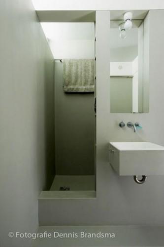 Une petite salle de bain verte et grise d co for Petite salle de bain tendance