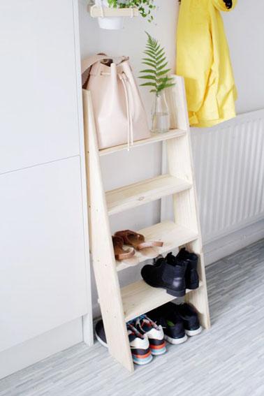 Astuce d co brico pour organiser le rangement des chaussures - Petit rangement chaussures ...