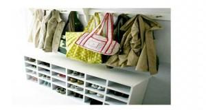 12 astuces rangement fabriquer pour la rentr e for Rangement pour chaussures fait maison