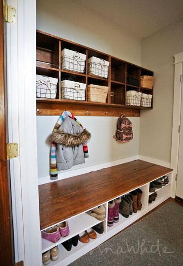 Astuce d co brico pour organiser le rangement des chaussures - Rangement pour chaussures fait maison ...