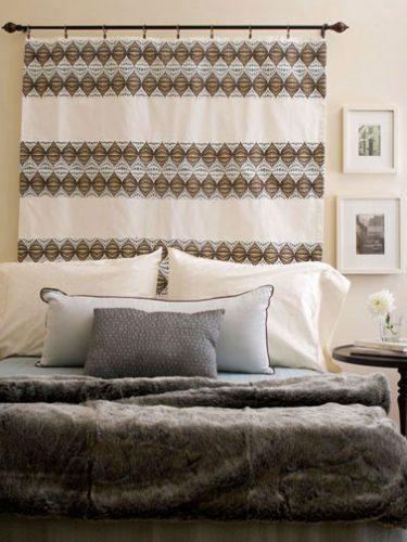 Une t te de lit originale et pas ch re en rideaux - Tete de lit originale pas cher ...