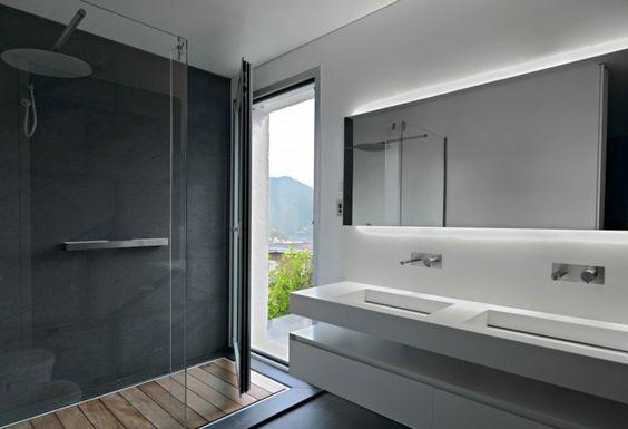 6 salles de bain en b ton cir pour vous inspirer d co cool for Salle de bain beton et bois