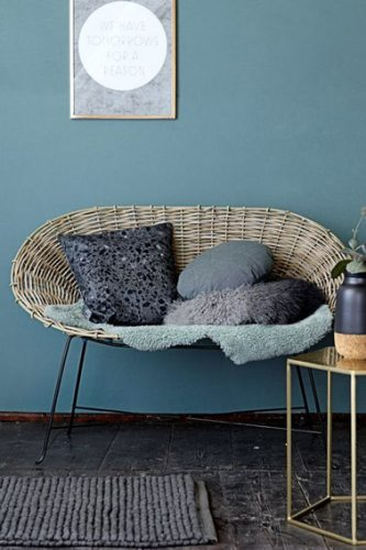 canape en rotin en deco interieur style contemporain. Black Bedroom Furniture Sets. Home Design Ideas