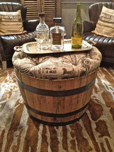 Fabriquer une table d co avec un tonneau de r cup - Fabriquer sa table de jardin ...