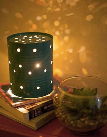 Fabriquer une lanterne d co avec une bo te de conserve - Peindre boite de conserve ...