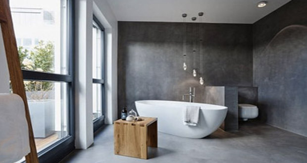 emejing salle de bain beton cire gris contemporary awesome interior home satellite. Black Bedroom Furniture Sets. Home Design Ideas