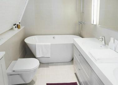petite salle de bain amenagee avec baignoire ilot. Black Bedroom Furniture Sets. Home Design Ideas