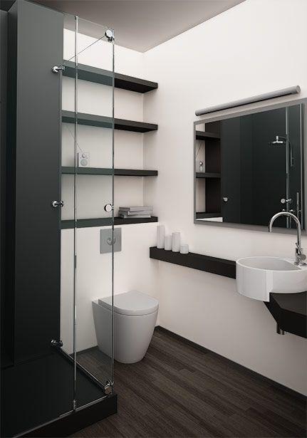 Une petite salle de bain design avec une douche italienne - Photos petite salle de bain ...