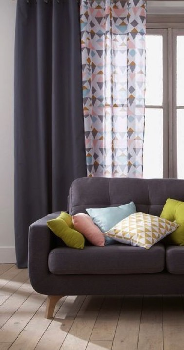 Rideaux tendances pour la d co du salon comment bien les for Deco rideaux pour salon