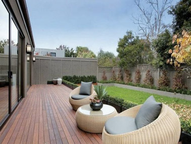 Des meubles en rotin dans la d co contemporaine for Back garden designs australia