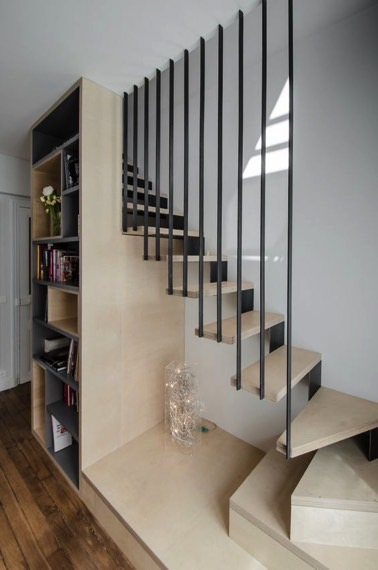 rampe escalier interieur moderne rampe escalier interieur. Black Bedroom Furniture Sets. Home Design Ideas