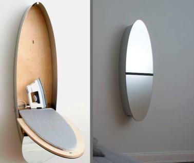 Voilà une astuce qui vous permettra de gagner de l'espace dans la maison ! Un meuble de rangement discret qui se transforme en table à repasser en un clin d'oeil