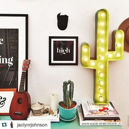 Grande lampe de bureau cactus, à l'américaine