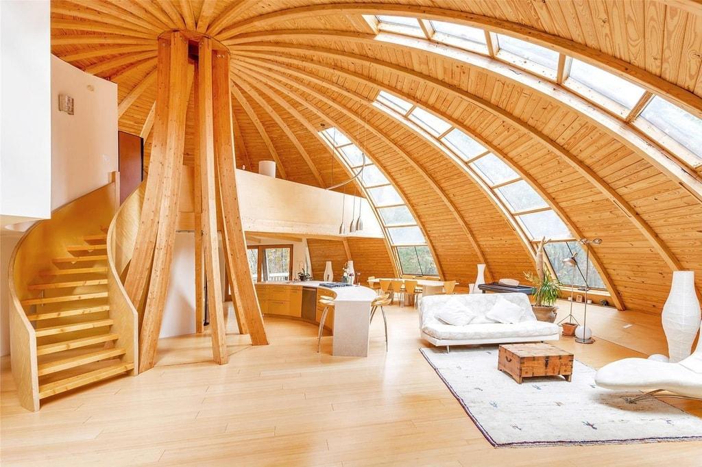Maison en bois domespace for Maison dome en bois