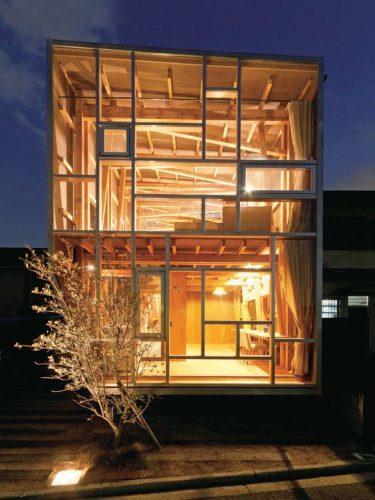 Maison avec ossature en bois, au Japon