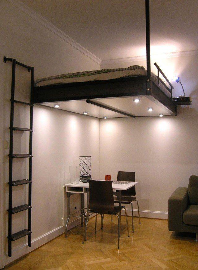 Lit suspendu - Lit remontable au plafond ...
