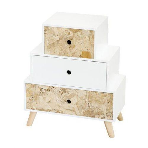 Meuble blanc et bois style scandinave