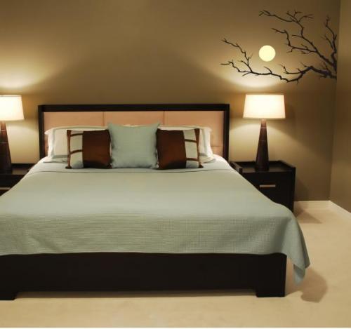 Sticker clair de lune apaisant dans une chambre