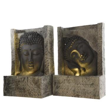 Fontaine bouddha en résine avec éclairage led