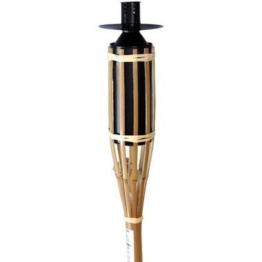 Torche à huile en bambou