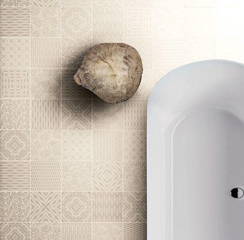 Céramique rétro pour la salle de bain