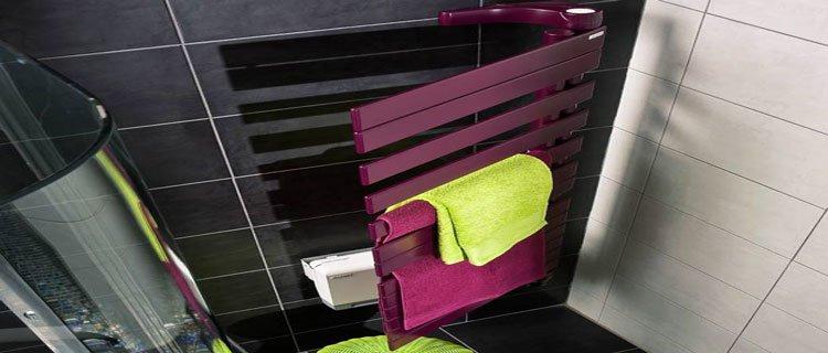 Chauffage Design Salle De Bains Ici Un Seche Serviette Colore
