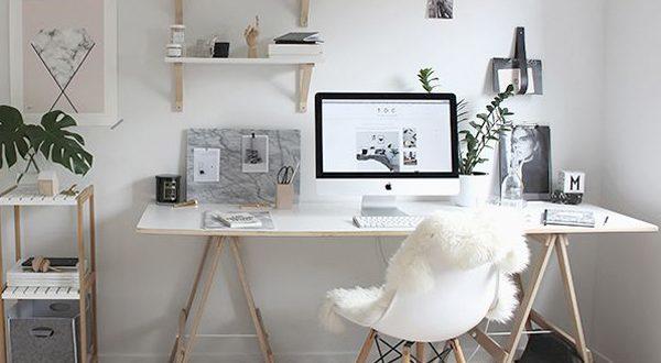 bureau sur tréteau
