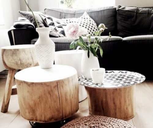 comment fabriquer une table basse avec un tronc d 39 arbre diy. Black Bedroom Furniture Sets. Home Design Ideas
