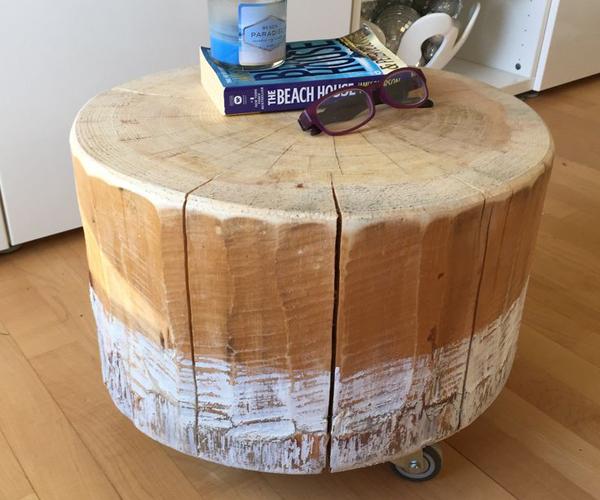 Comment fabriquer une table basse avec un tronc d 39 arbre diy - Comment fabriquer une table de chevet ...