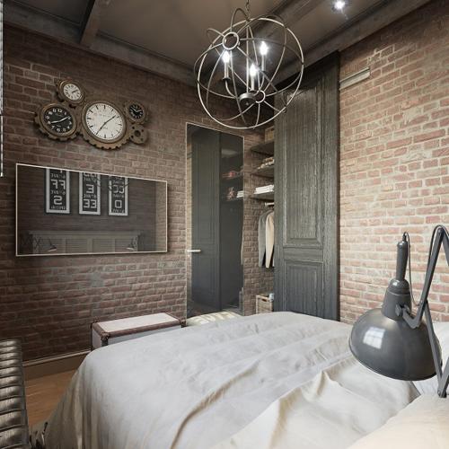 Chambre à coucher de style steampunk