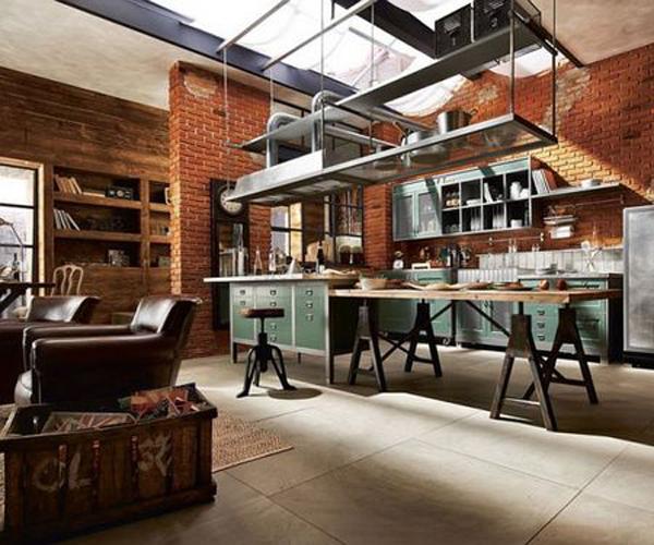 Décoration intérieure de style steampunk