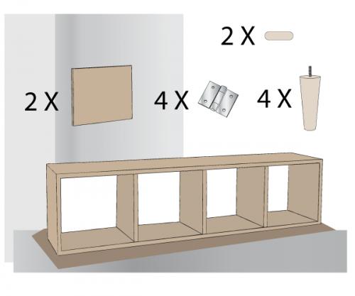 Matériel requis pour fabriquer un meuble style scandinave