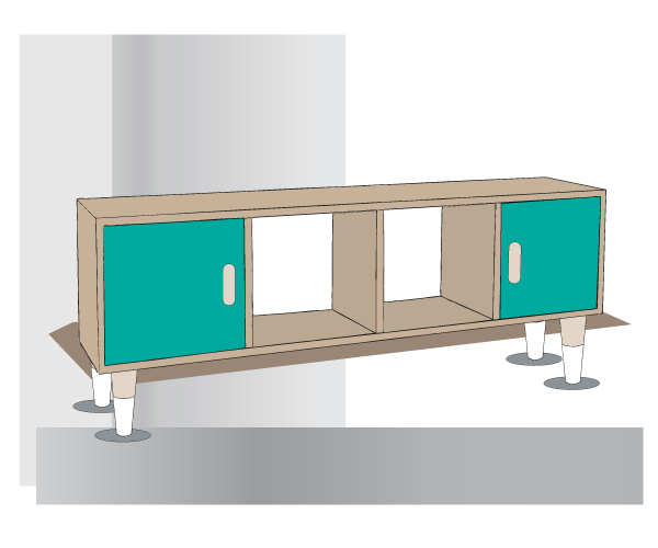 Tuto DIY pour fabriquer un meuble style scandinave