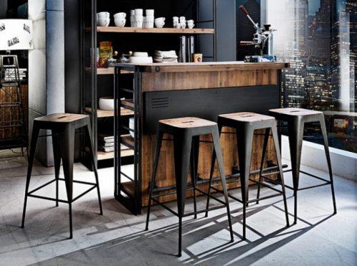 Îlot bar style industriel