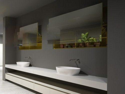 Des miroirs pour une jolie d co dans la salle de bains for Decoller un miroir