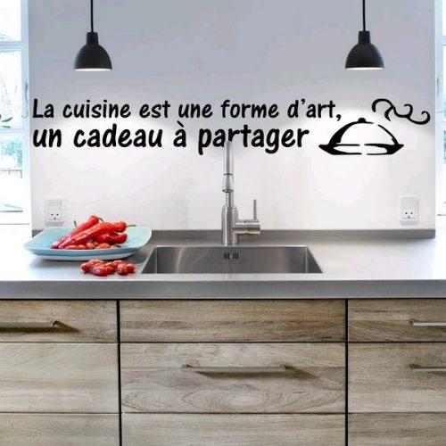 Message mural déco dans une cuisine