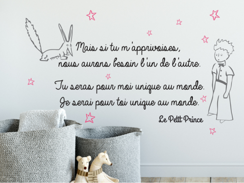 Sticker citation le petit prince